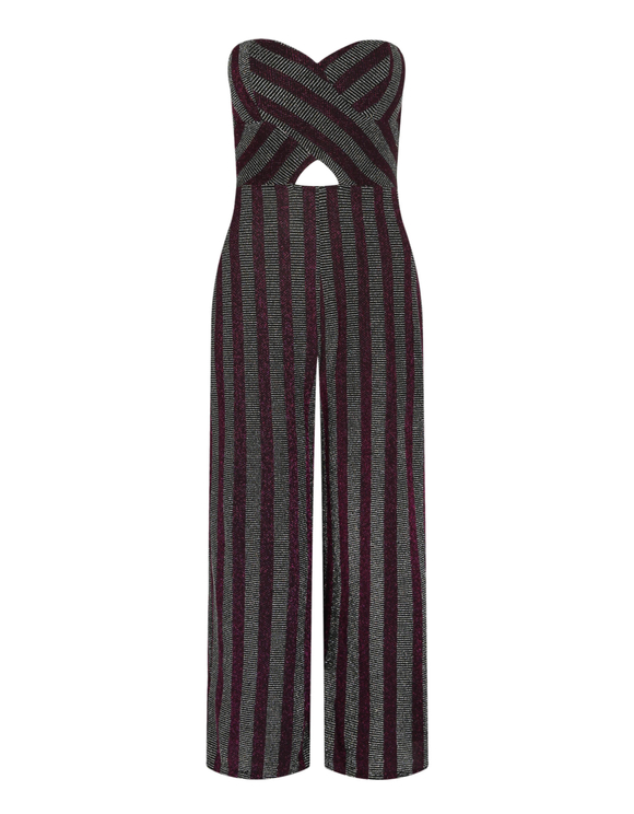 Purple Lurex Jumpsuit