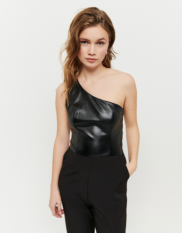 Black Asymmetric Jumpsuit