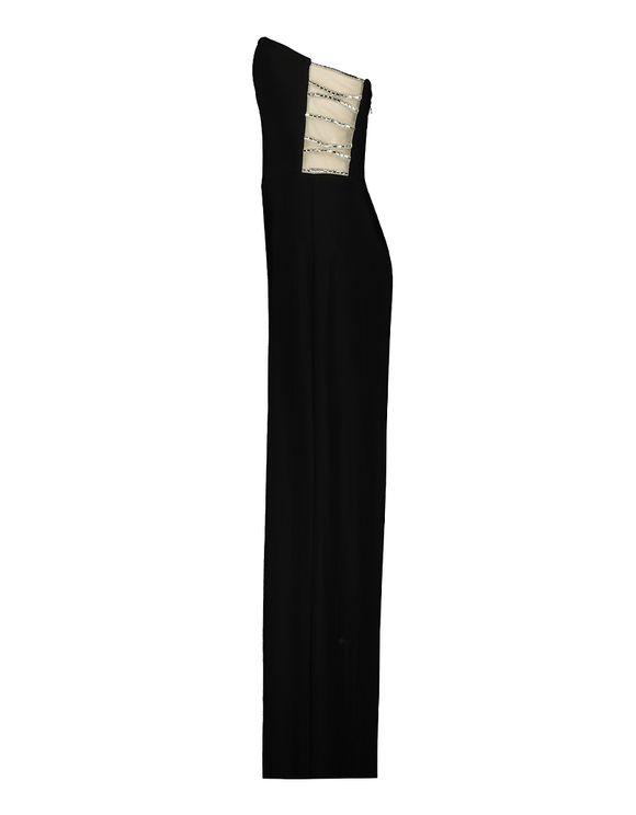 Black Jumpsuit with Strass