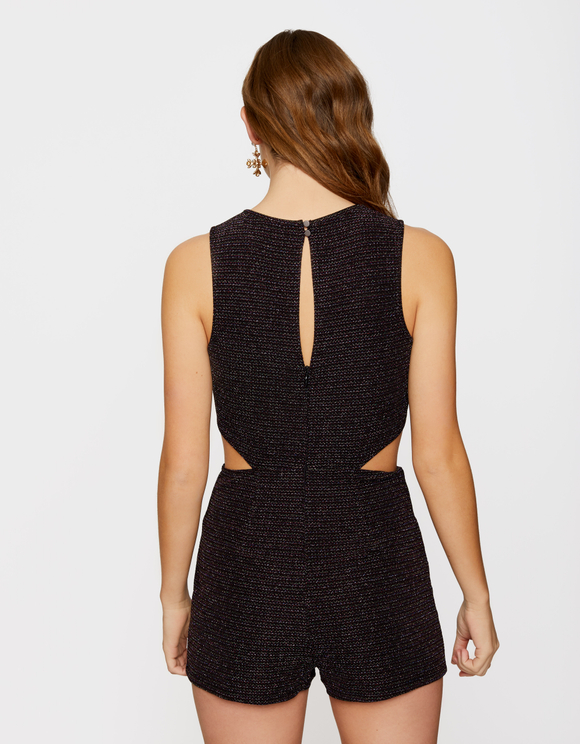 Black Glitter Playsuit