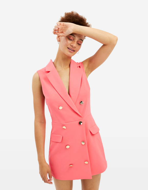 Neon Pink Playsuit