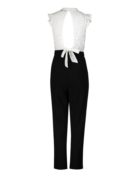 Black & White Jumpsuit with Lace