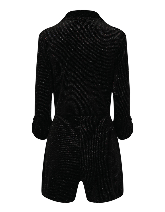 Black Lurex Playsuit