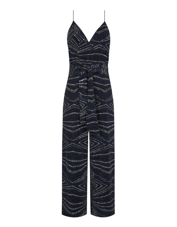 Blue Glitter Jumpsuit