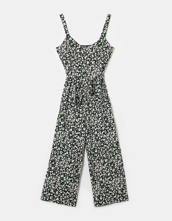 Printed Sleeveless Jumpsuit