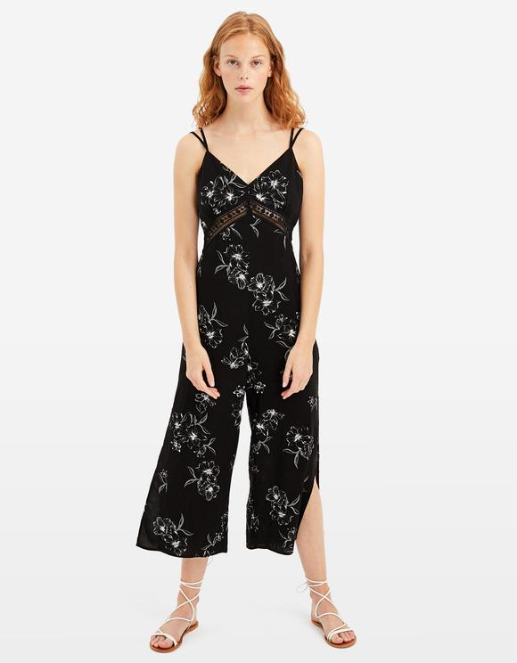 Black Printed Jumpsuit
