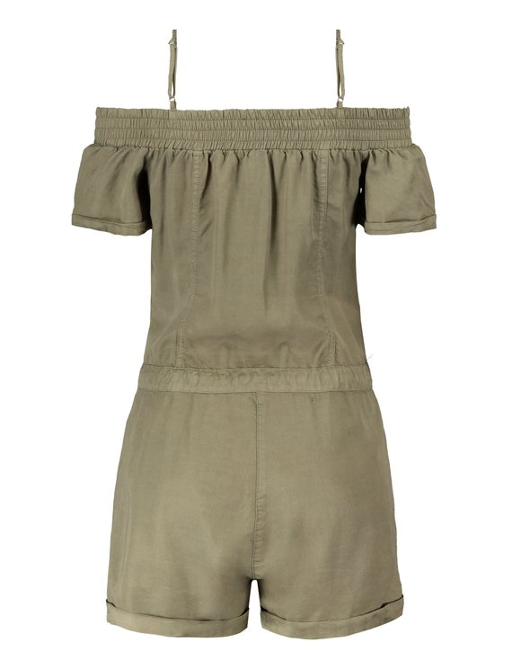 Khaki Off-Shoulder Playsuit