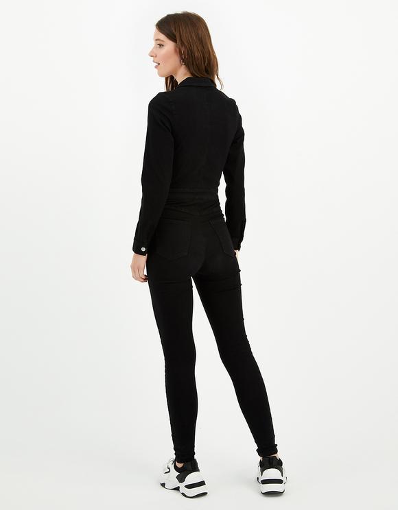 Langärmliger Skinny Jumpsuit