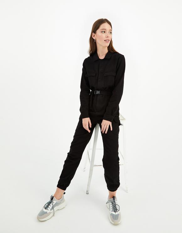 Black Utility Jumpsuit