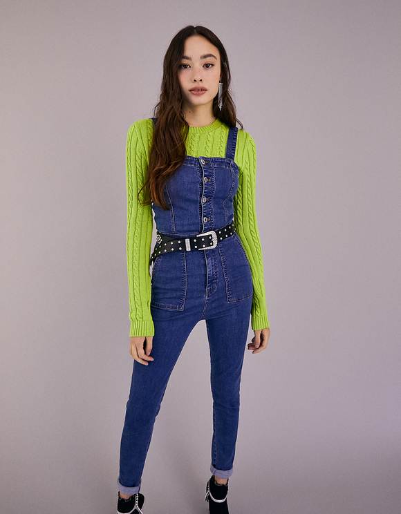 Denim Skinny Utility Dungaree