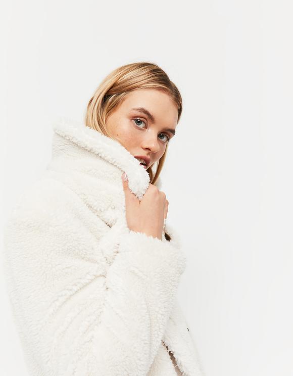 Manteau Blanc Cassé Teddy