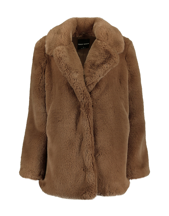 Brown Faux Fur Coat