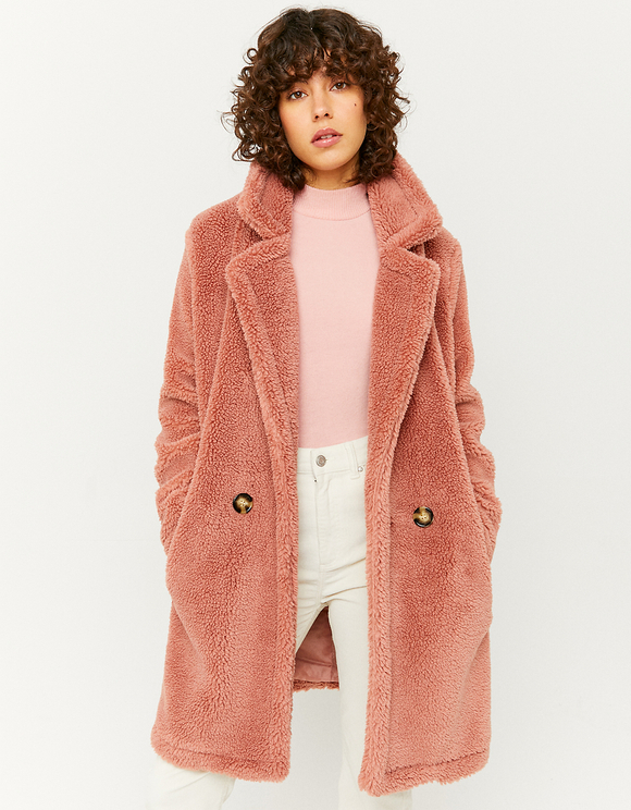 Manteau Rose Teddy