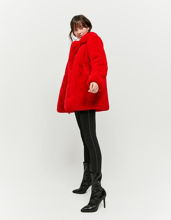 Red Faux Fur Coat