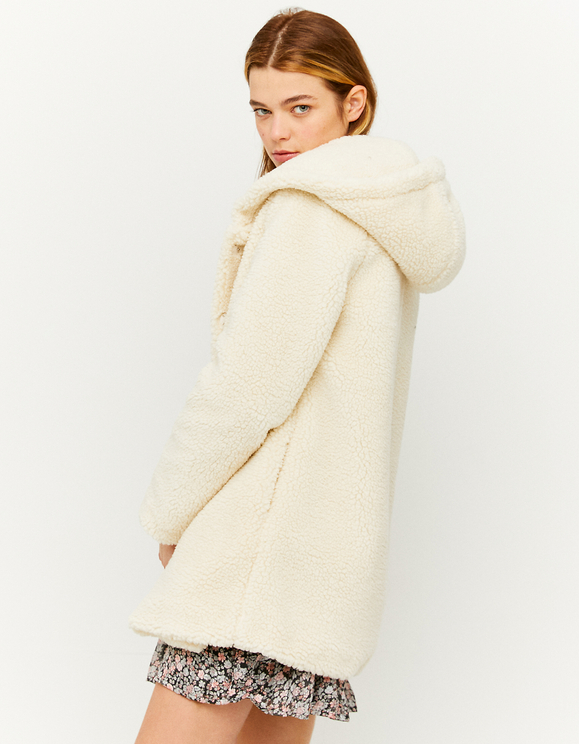 Manteau à Capuche en Faux Mouton