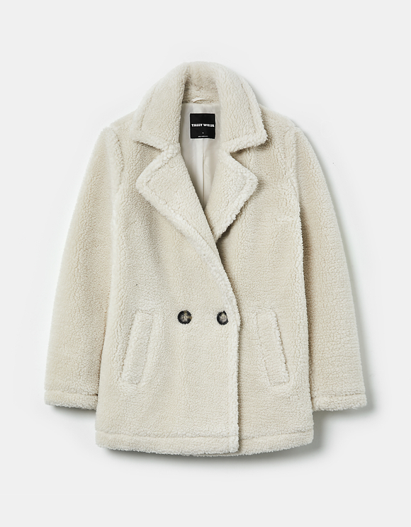 Manteau en Faux Mouton