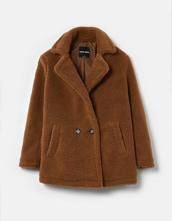 Manteau Court en Teddy