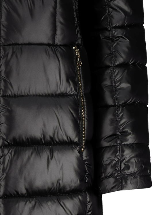 Faux Fur Lined Puffer Coat with Removable Faux fur