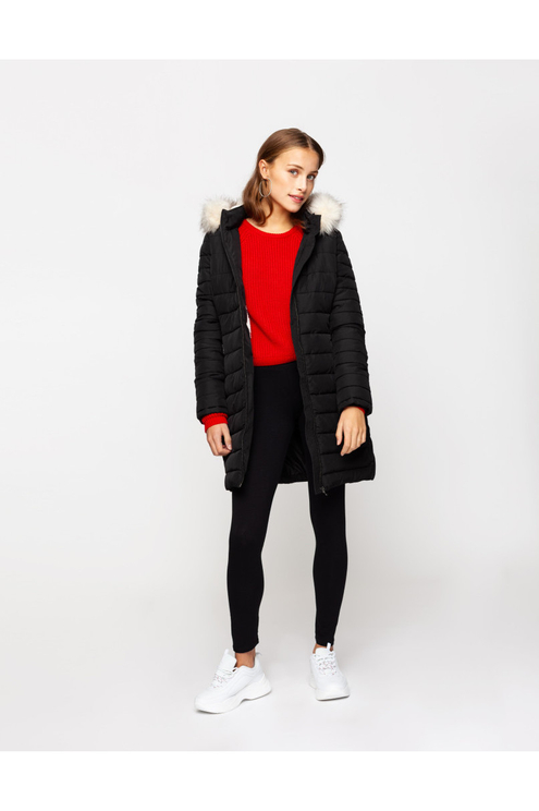 Black Long Puffer Jacket
