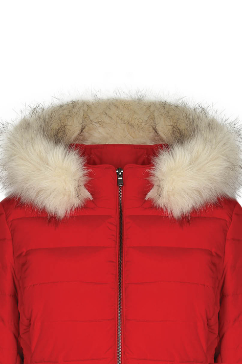 Red Long Puffer Jacket