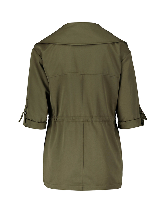 Utility Crop Trench Coat