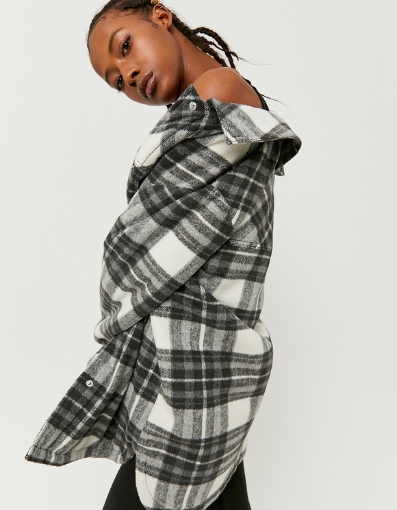 Padded Check Shacket