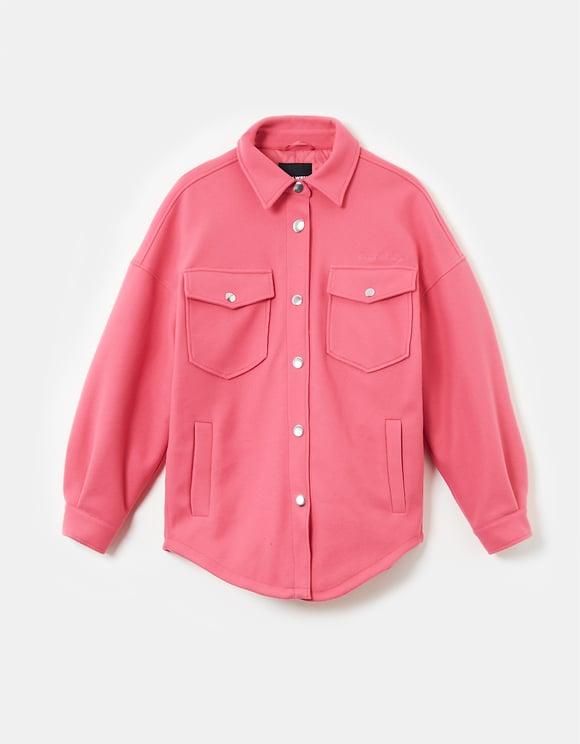Pinke gepolsterte Hemdjacke