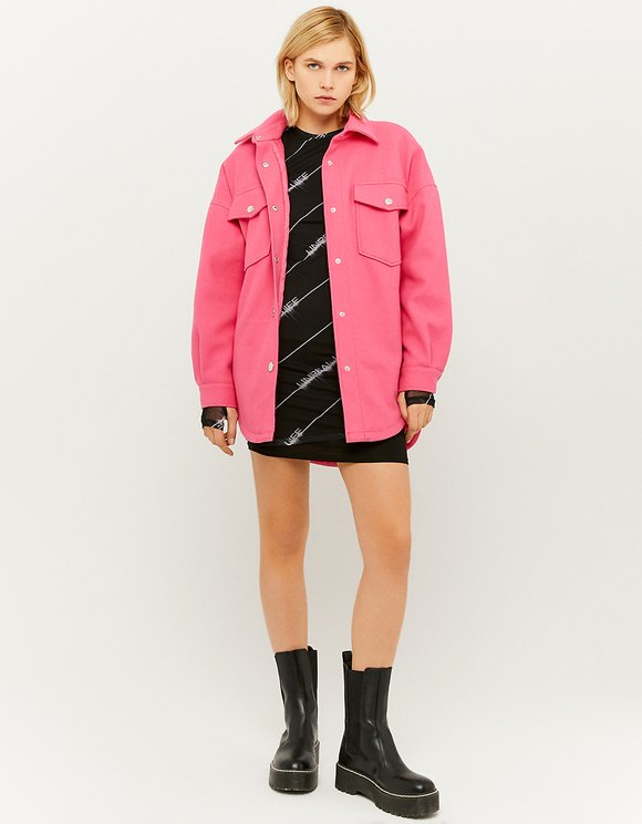 Pink Padded Shacket
