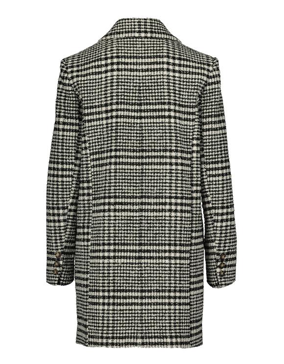 Tweed Mantel mit Knöpfen