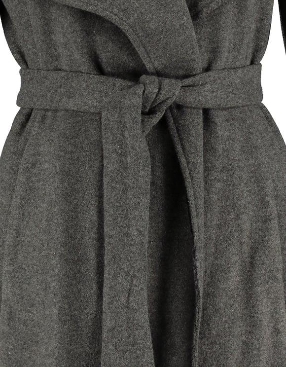 Gray Wrap Front Coat