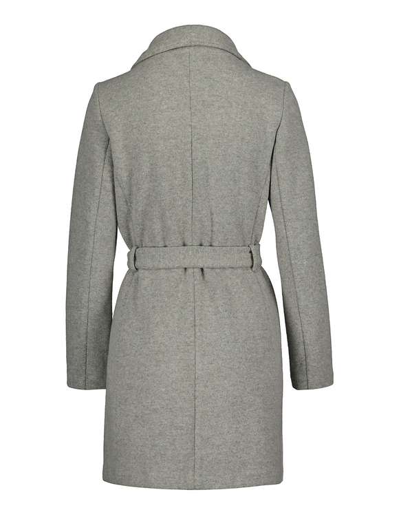 Light Grey Wrap Front Coat