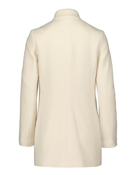 Off White Zip Closed Coat