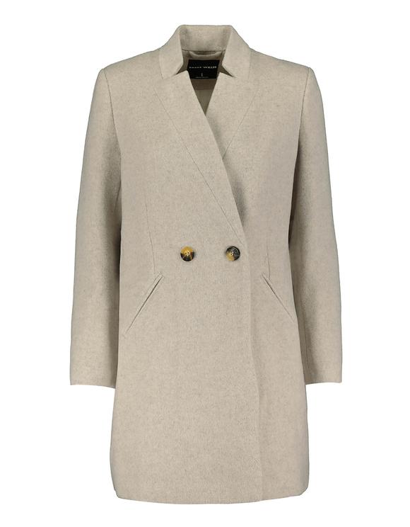 Maulwurfsgrauer Mantel mit Knöpfen