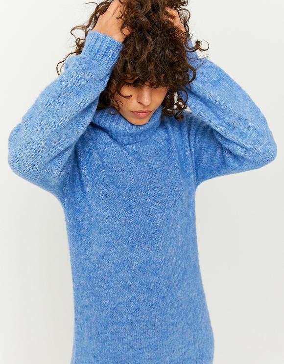 Robe en Maille Bleue