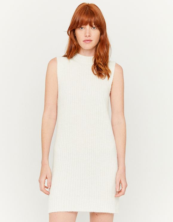 Beige Long Knitted Dress
