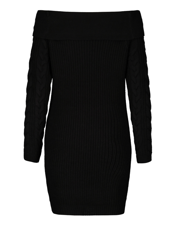 Black Cable Knit Dress