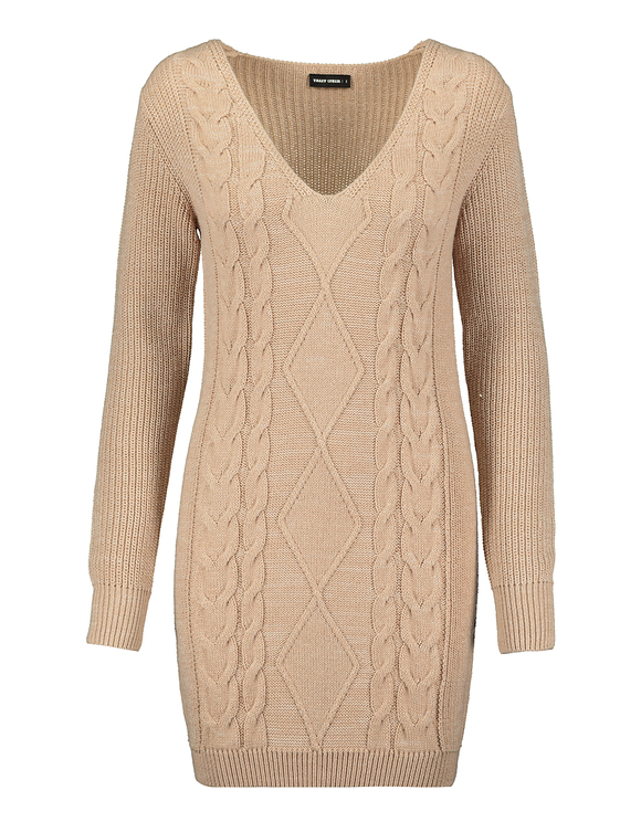 Beige Knitted Dress