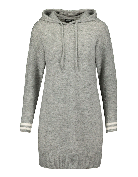 Grey Knit Hooded Dress