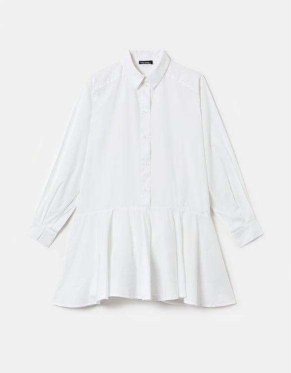 Robe Chemise à Manches Bouffantes