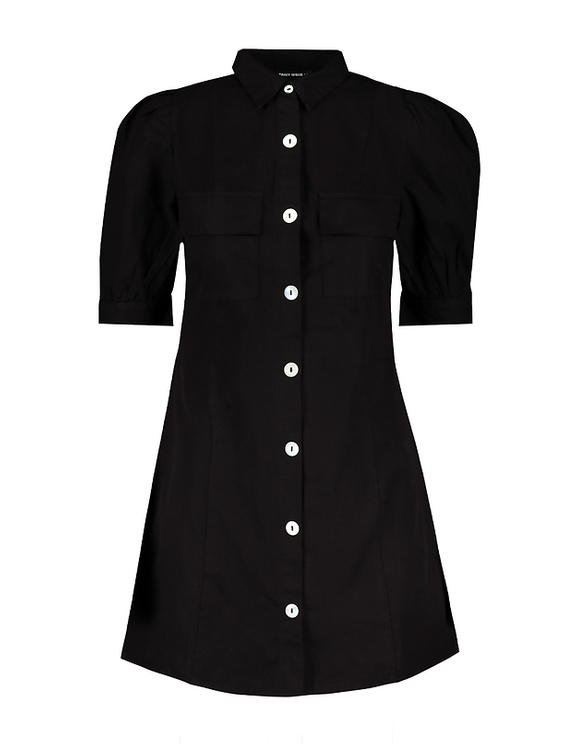 Robe Chemise Manches Broderie Anglaise