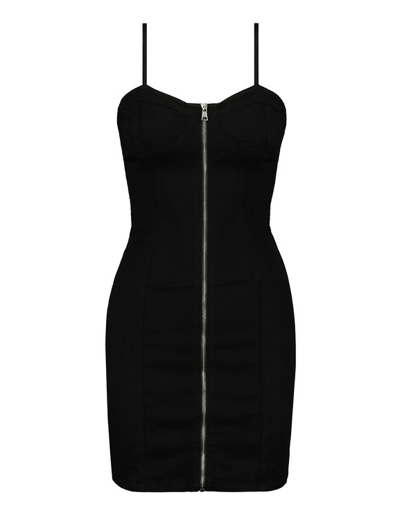 Black Bodycon Bustier Dress