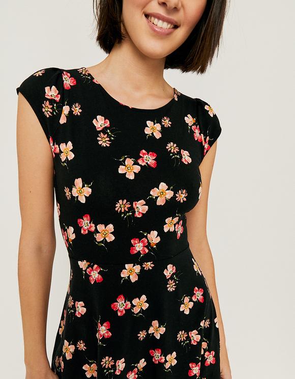 Floral Mini Skater Dress