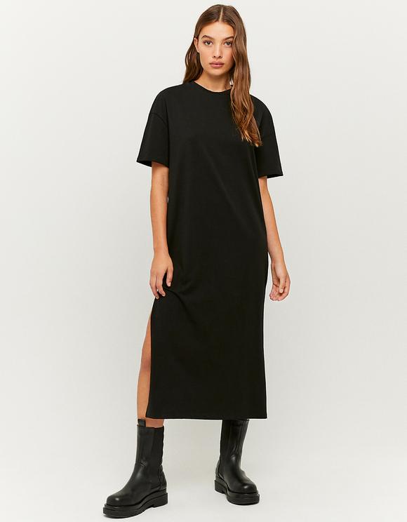 Schwarzes kurzärmliges Mini Kleid