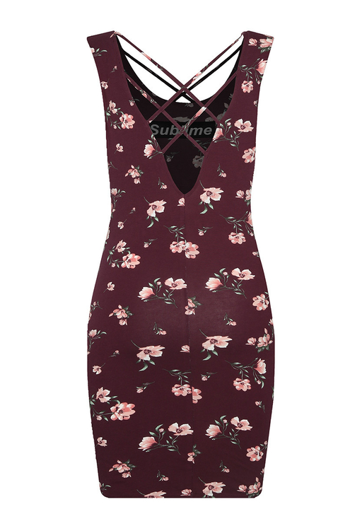 "Burgundy ""Sublime"" Dress"