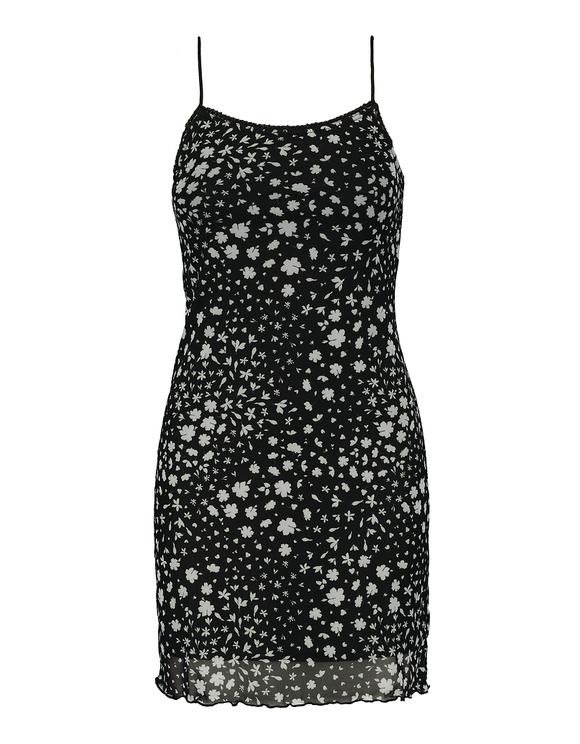 Mesh Strappy Mini Dress