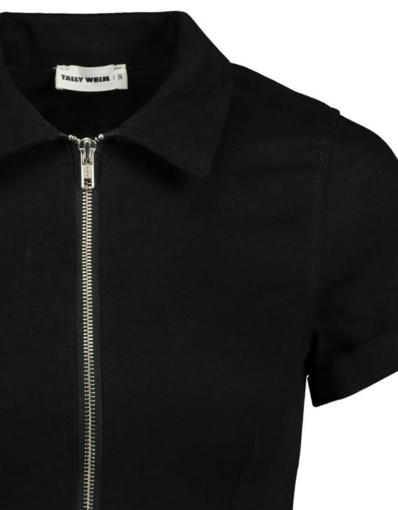 Robe Noire Moulante Manches Courtes