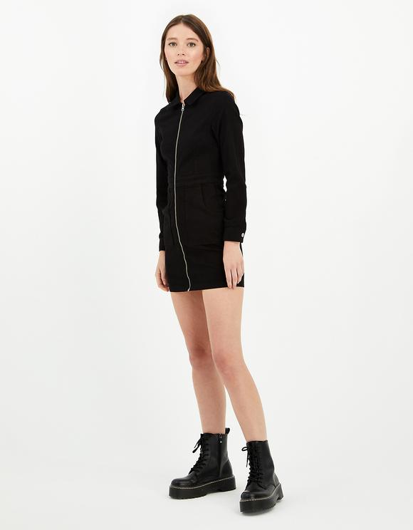 Schwarzes, Bodycon Kleid mit langen Ärmeln