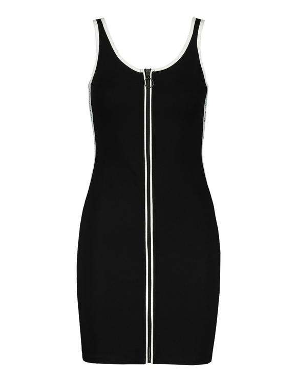 Robe Noire Zippée