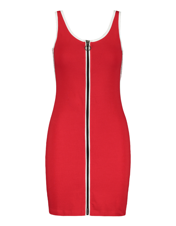Robe Rouge Zippée