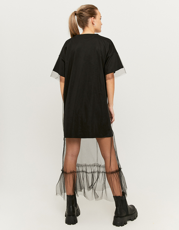 Robe T-Shirt avec Organza